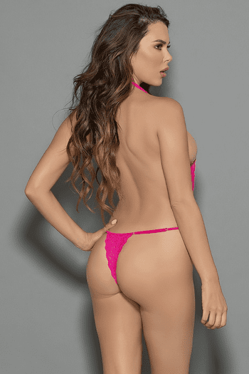 Sweet Pink Lace Teddy