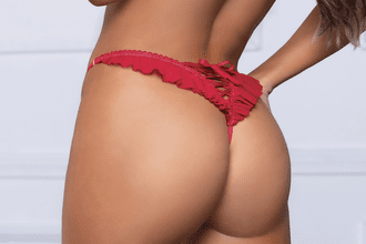 Sweet Red Lace Thong