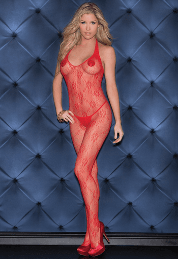 Tap That Red Hot Bodystocking