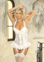 Tapestry Feeling Satin Flower Jacquard Long-Line Bustier
