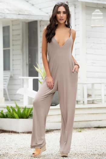 Taupe Bohemian Jumpsuit