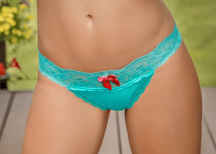 Teal Bliss Lace Thong
