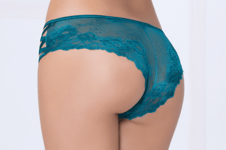 Teal High Waist Cheeky Panty