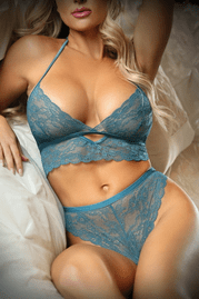 Teal Me About It Lace Bralette & Panty