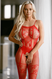 Tease Me Fishnet Crotchless Bodystocking