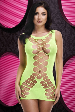 Teasing You Neon Green Bodystocking Chemise