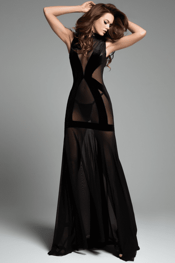 The Naked Black Nightdress