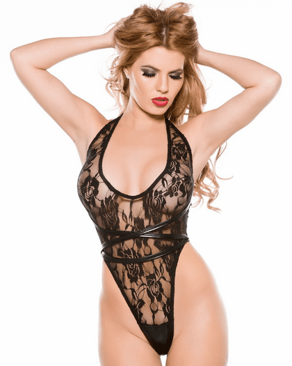 The Ultimate Seduction Lace & Wet Look Teddy