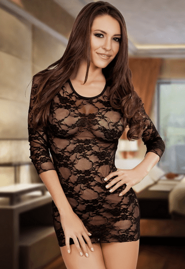 Black Lace The Way You Look Tonight Chemise