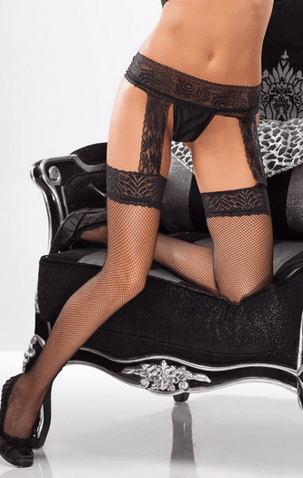 Thigh High Stockings With Garter Belt