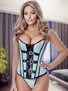 Blue Thinking Of You Corset