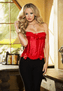 Red Thinking Of You Corset