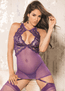 Thinking Out Loud Gartered Chemise & G-String Set