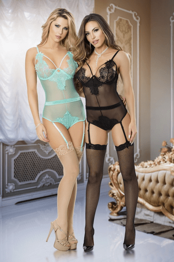 This Is The Night Sheer Teddy & Garter Set