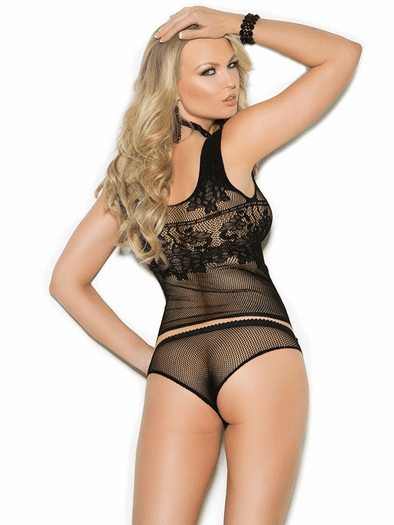 Tie Me Down Fishnet Cami Top & Panty Set