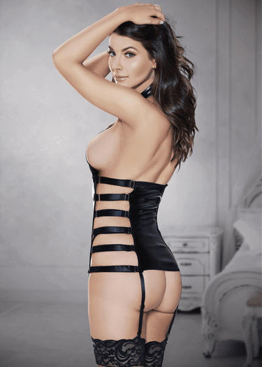 Tied By Affection Bustier & Thong Set