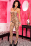 Tiger Temptation Sexy Crotchless Bodystocking
