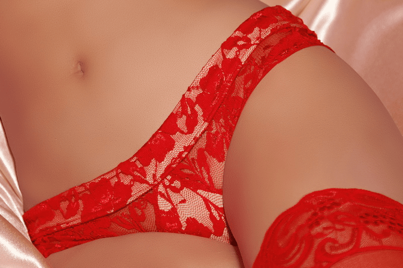 Timeless Elegance Red Lace Tanga