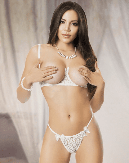 Tonight I'm Yours Open Bust Bra & G-String Set