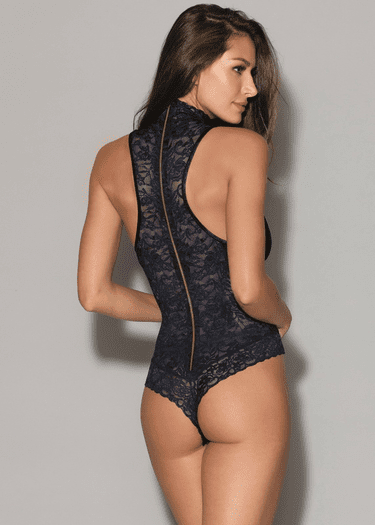 Toxic Love Lace Snap Crotch Teddy