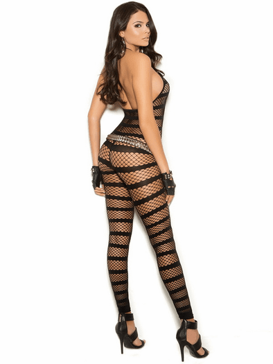 Trouble Making Crotchless Bodystocking