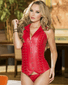 True Love Red Leather Corset