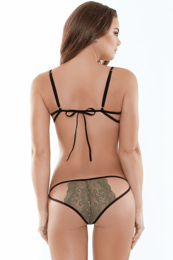 Truly Yours Lace Bra & Strappy Panty Set