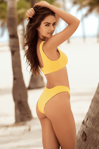 Tuscany Yellow Two Piece Swimsuit