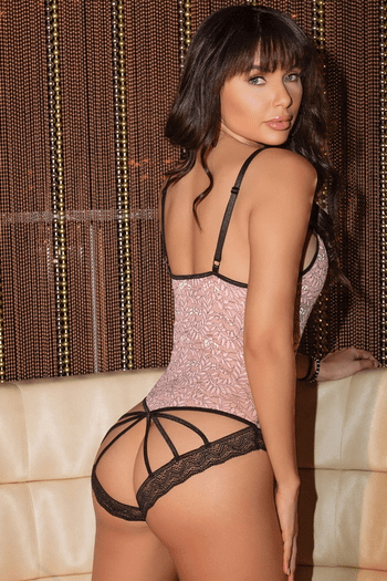 Two Tone Lace Teddy