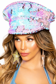 Two-Tone Sequin Hat