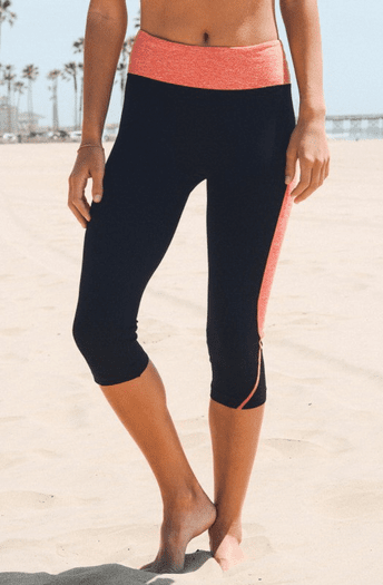 Two Tone Sexy Black Work Out Pants