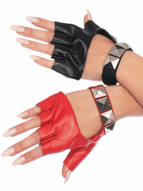 Two Tone Studded Gloves