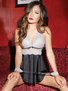 Under My Spell Halter Babydoll & Cuffs Set