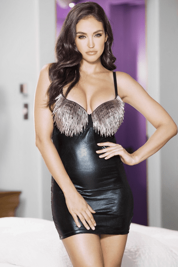 Veronica's Erotic Wet Look Chemise