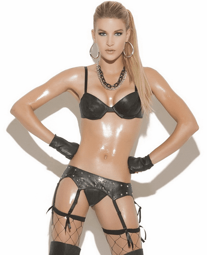 Very Flirty Leather Bra