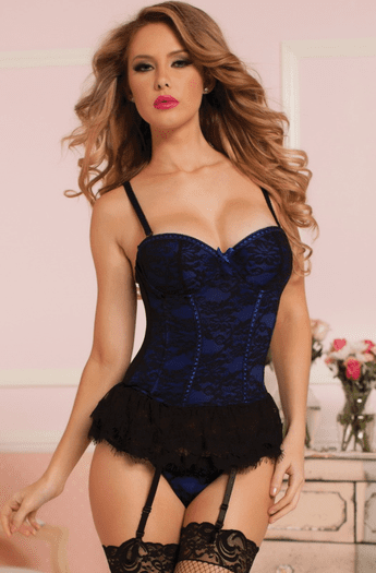 Victorian Lace Bustier and Panty Set
