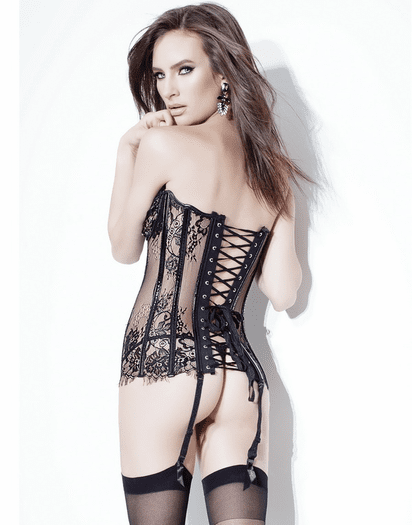 Victorian Lace Sheer Sexy Corset