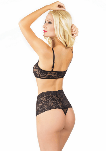 Vintage Glam Sexy High Waisted Thong