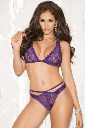 Violet High Waist Bralette Set
