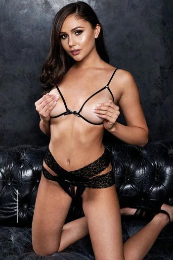 VIP Black Cupless Bra & Crotchless Panty Set