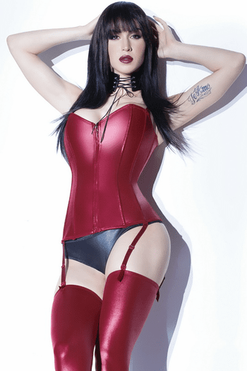 Wet Look Metal Boned Corset