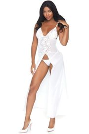 White Catching Feelings Long Gown