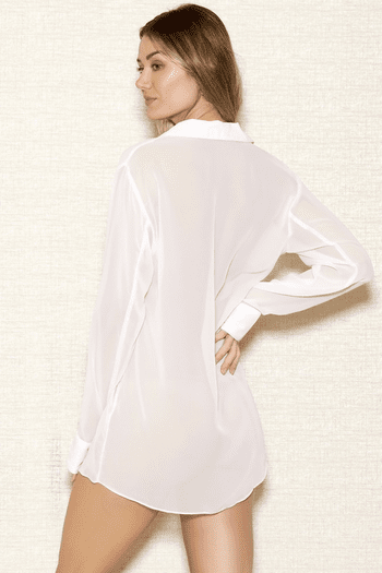 White Chiffon Sleep Shirt