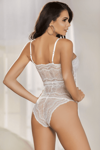 White Lace Up Teddy