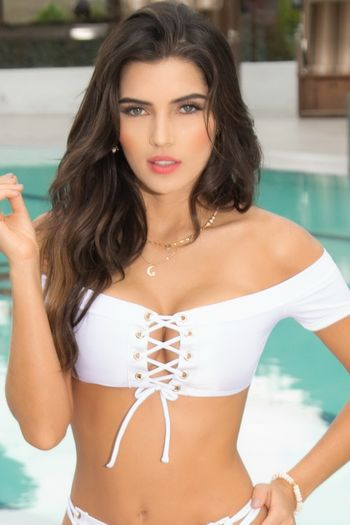 White Off The Shoulder Bikini Top