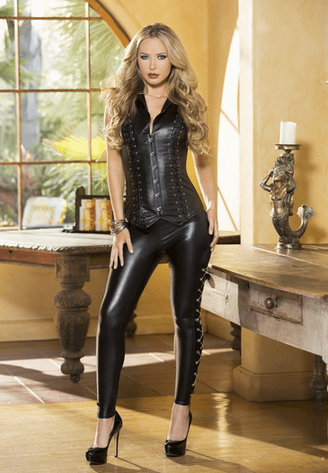 Wildest Dream Leather Corset