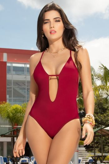 Wine Cheeky Monokini