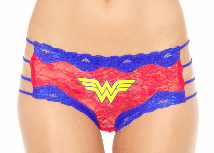 Wonder Woman Lace Hipster Panty