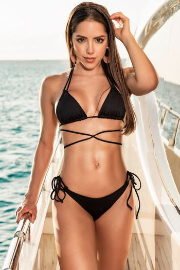 Wrap Around Top & Side Tie Bottom Swimsuit