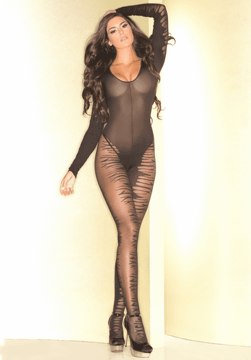 Yearn For You Sexy Long Sleeve Bodystocking